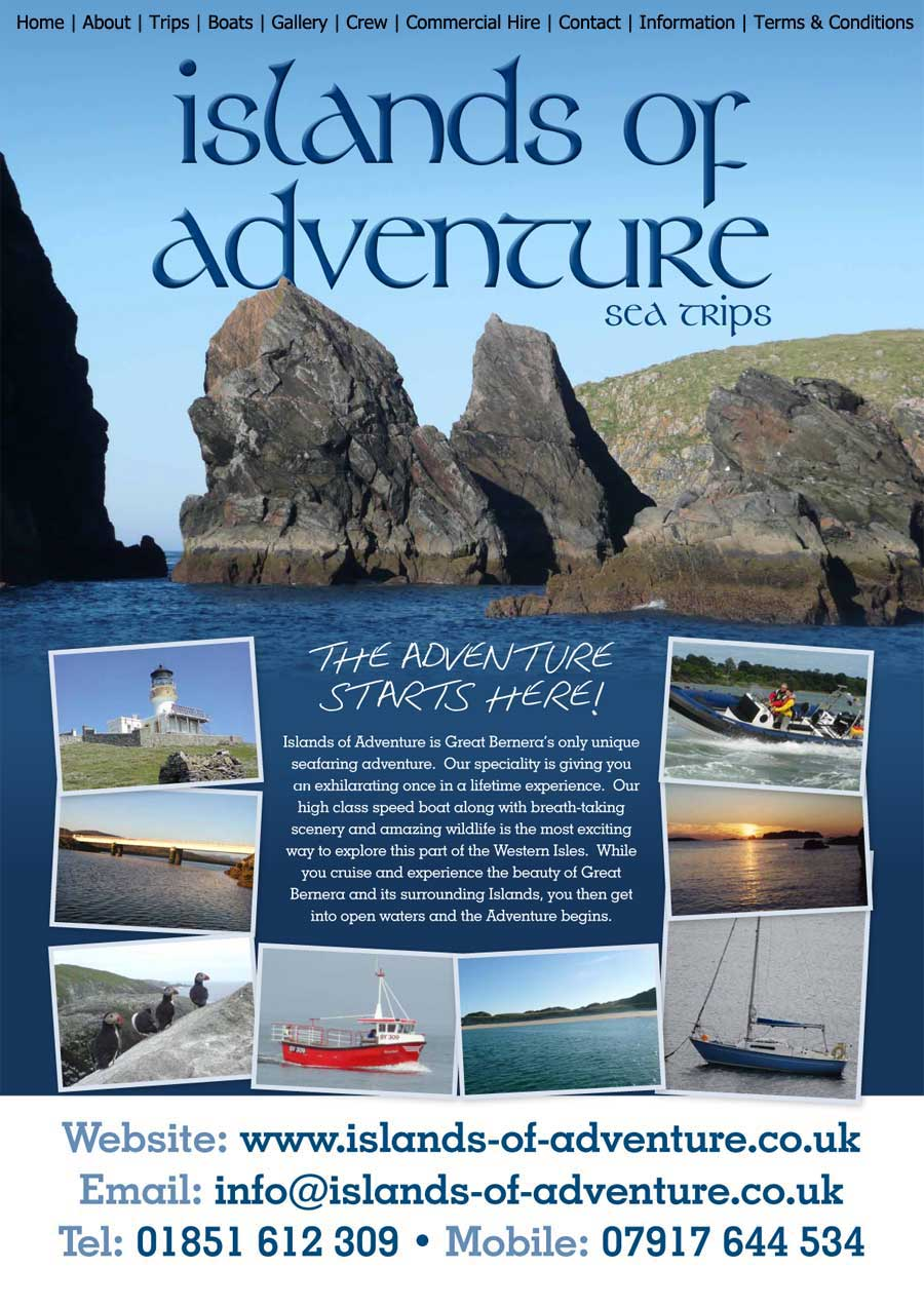 Islands of Adventure | Boat hire | Charter | Bernera | Isle of Lewis